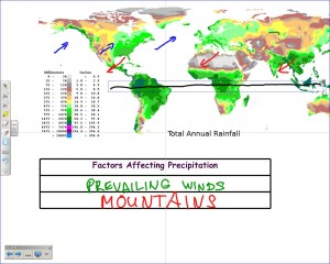 World Precipitation Map and Climate Factors