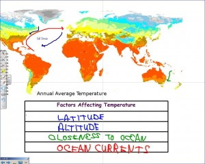 World Temperature Map and Climate Factors